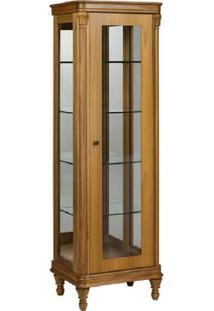 Cristaleira Miami Jequitibá 1 Porta Vidro Espelho Iluminação Em Led Bivolt Móveis Armil