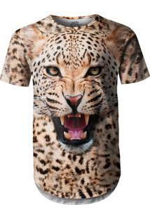 Camiseta Longline Over Fame Onça