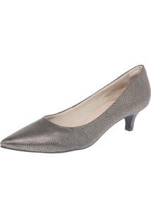 Scarpin Dafiti Shoes Couro Dourado