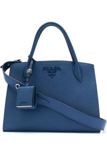 b878cc726 R$ 10000,00. Farfetch Bolsa Azul Feminina Prada ...