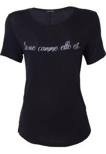 Blusa Le Lis Blanc La Vie Malha Preto Feminina (Preto, P)