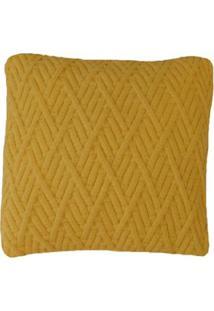 Capa Almofada Tricot 40X40Cm / 45X45Cm C/Zíper Sofa Trico Cod 1025 Amarelo