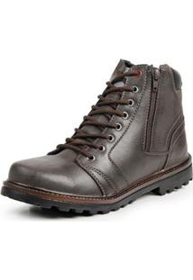 Bota Coturno Top Franca Shoes Casual Masculino - Masculino-Cafe