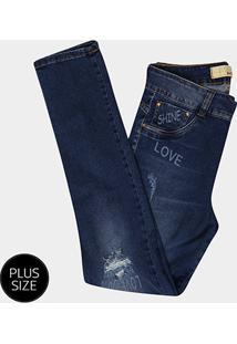 e2e14f14a ... Calça Jeans Skinny Biotipo Estonada Cintura Alta Plus Size Feminina -  Feminino