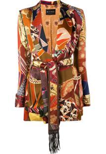 Etro Belted Jacket - Marrom