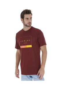 Camiseta Hurley Silk Off The Press - Masculina - Vinho
