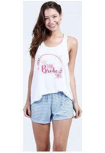 Pijama Feminino Estampa Frontal Nadador Marisa