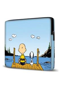Capa Para Notebook Snoopy 15.6 À 17 Polegadas Com Bolso