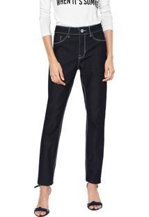 8c10108ab7 ... Calça Jeans Lunender Slim Pespontos Azul-Marinho