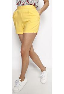 Short Com Elã¡Stico- Amarelohering