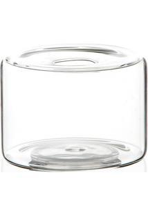 Vaso Em Vidro Anhua Glass Transparente 8Cm
