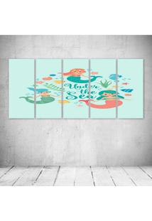 Quadro Decorativo - Sereias - Composto De 5 Quadros - Multicolorido - Dafiti