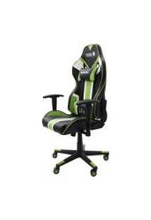 Cadeira Gamer Furios Pro Giratoria Reclinavel Com Braco 3D Verde