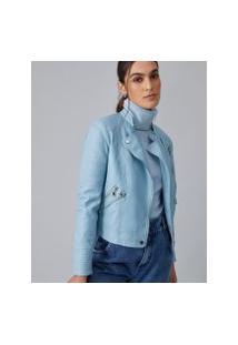 Amaro Feminino Jaqueta Leather Special, Azul Claro