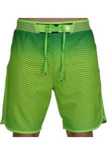 Bermuda Hurley Phantom Hyperwave Flow Masculina - Masculino-Verde Limão