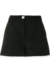 Boutique Moschino Short De Tweed - Preto