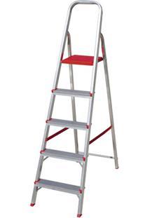 Escada Em Alumínio Com 5 Degraus