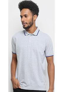 Camisa Polo Ellus Frisos Classic Masculina - Masculino-Mescla