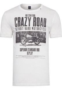 Camiseta Masculina Crazy Road - Bege