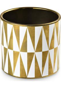 Cachepot Bencafil Deco Gold 13,5X13,5X12,8 Cm Dourado