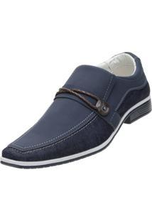 Sapato Social Venetto Lona Jeans Azul