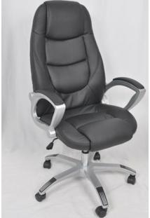 Cadeira Giratória De Escritório Cx0025H02 Bric Couro Pu Preto