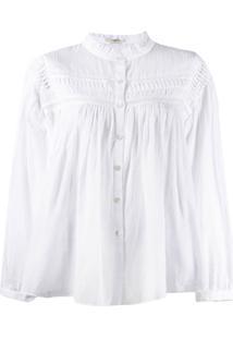 Isabel Marant Étoile Blusa Com Pregas - Branco
