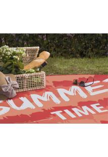 Tapete Redondo Ploc Summer Time Jolitex Laranja