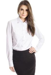 Camisa Básica Calvin Klein Feminina - Feminino-Branco