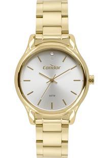 Relógio Condor Feminino Clássico Analógico Dourado Co2035Fbyk4B - Kanui