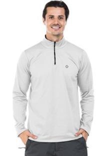 Camisa Térmica Para Frio Com Gola Alta Extreme Uv - Masculino-Branco