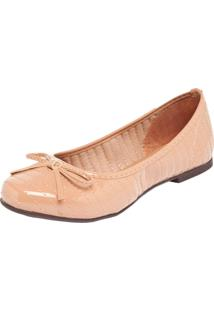 Sapatilha Dafiti Shoes Laço Nude