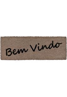 Capacho De Coco Slim-1 26X75 - Edantex - Cinza
