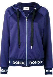 Dondup Jaqueta Slim Com Logo - Azul