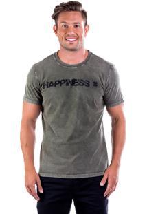 Camiseta Four Happiness Gb - Verde Musgo