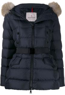 Moncler Belted Zipped Padded Jacket - Azul