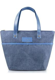 Bolsa Be You Pequena Com Alça - Unissex-Azul
