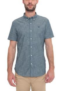 Camisa Manga Curta Multipattern Indigo