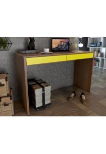 Mesa Para Escritorio Linea Amendoa/Amarelo - Fitmobel