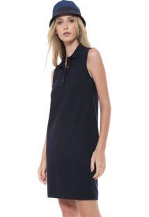 336bc9b076e95 Vestido Azul Lacoste feminino