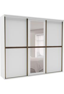 Guarda-Roupa Casal Sofisticato Ii Com Espelho 3 Pt 6 Gv Branco