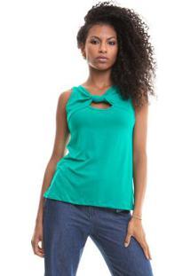 Blusa Lisa Cavada Verde