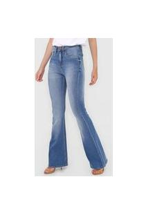 Calça Jeans Calvin Klein Jeans Bootcut Estonada Azul
