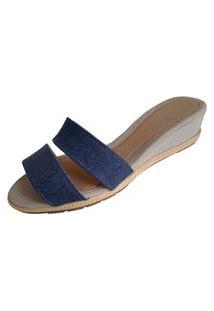 Sandália Scarpe Anabela Jeans
