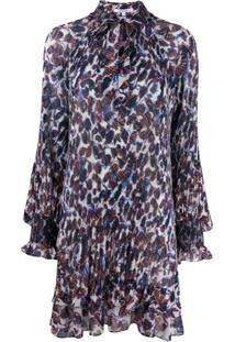 Derek Lam 10 Crosby Pleated Floral Print Dress - Branco