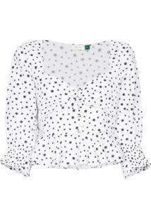 Rixo Blusa Sameera Com Botões - Branco