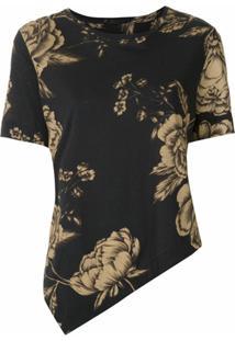 Osklen Blusa Rosa Estampada - Preto