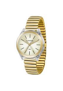 Relógio Analógico Lince Feminino - Lrg4484P C1Kx Dourado
