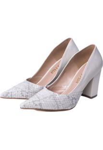 Sapato Scarpin Torricella Off-White