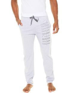Calça Calvin Klein Underwear Heritage Logo Cinza